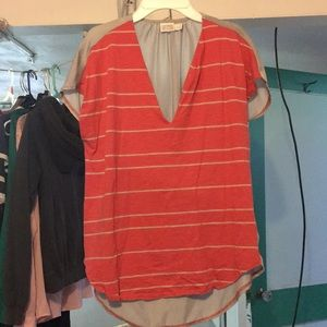 Converse stripped v neck.